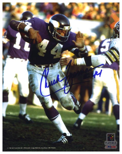 Chuck Foreman Minnesota Vikings Signed Photograph
