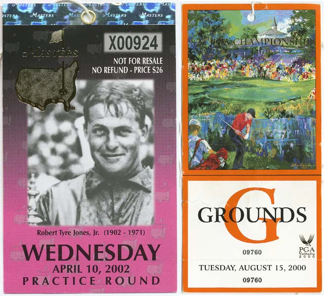 Tiger Woods Original Championship Tournament Pass Collection