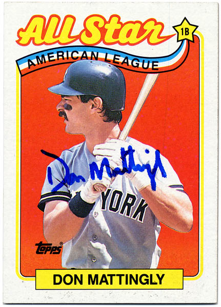 Item Detail Don Mattingly Signed 1988 All Star American
