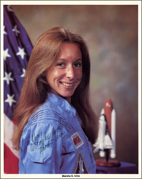 Astronaut Marsha S. Ivins Signed & Inscribed Official NASA Photograph