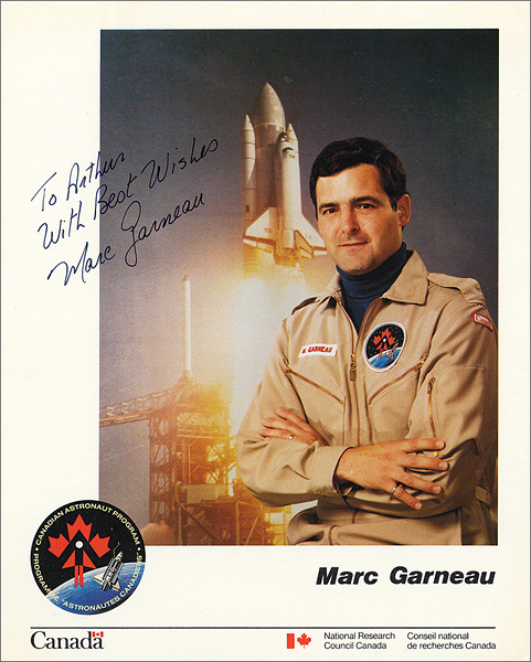 Astronaut Marc Garneau Signed & Inscribed Official CAP Photograph