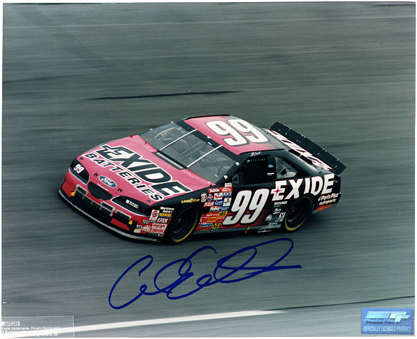Carl Edwards Signed NASCAR Photograph