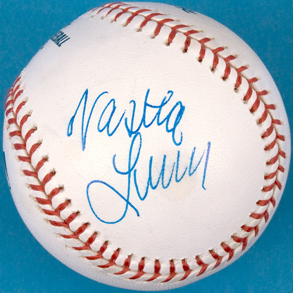 Nastia Liukin and Amanda Beard Signed Official Major League Baseball
