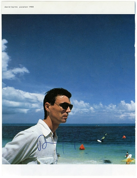 David Byrne Signed Photographic Print