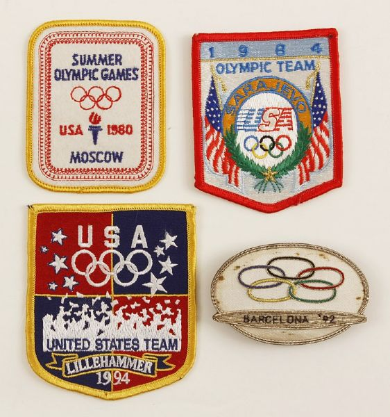 Group of (4) Olympic Participant Patches Including First Dream Team
