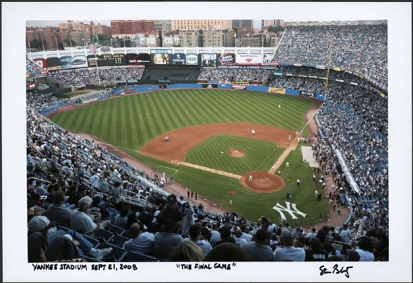 New York Yankees The Final Game Panoramic Photograph Signed by Photographer