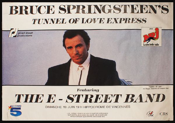Bruce Springsteen Tunnel of Love, European Tour Subway Concert Poster (38 X 56)
