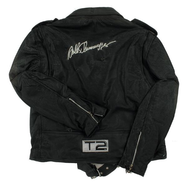 Arnold Schwarzenegger Signed Terminator 2: Judgment Day Leather Jacket