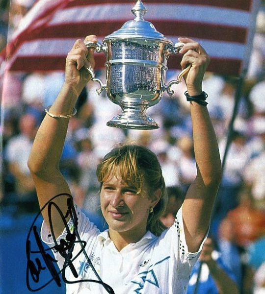 Steffi Graf Signed Magazine Photograph