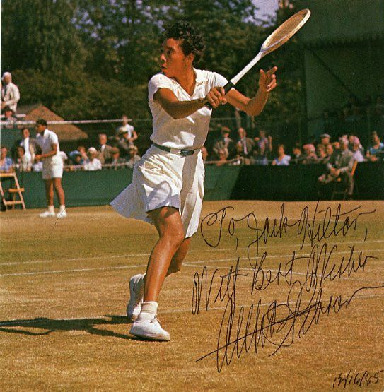 Althea Gibson Signed Magazine Page