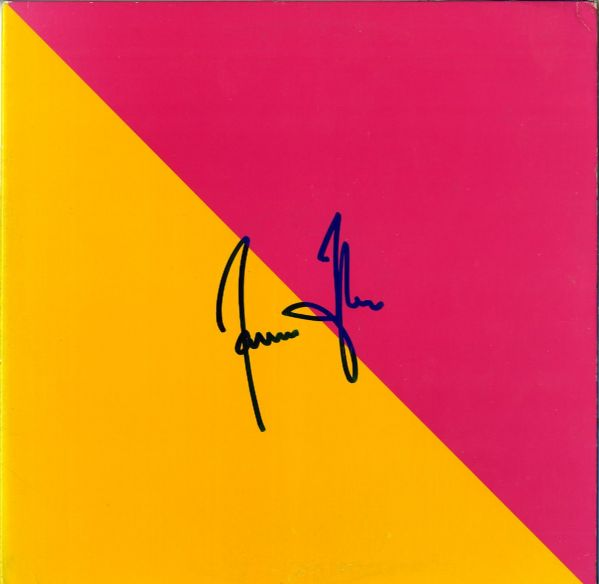 James Taylor Signed Flag Album