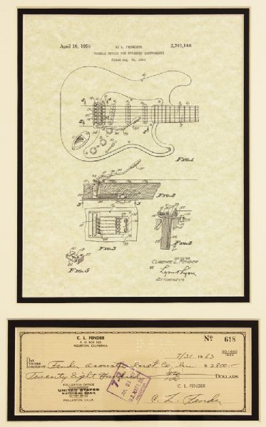 Leo Fender 1963 Handwritten Signed Check to Fender Acoustic Instrument Co.
