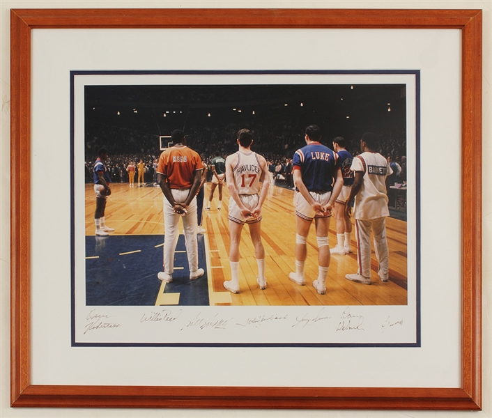 1968 NBA All-Star Game Photograph Signed by 7 All-Stars