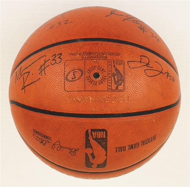 Erie Bay Hawks Game Used Basketball Signed by 10 (Including Record Breaker)