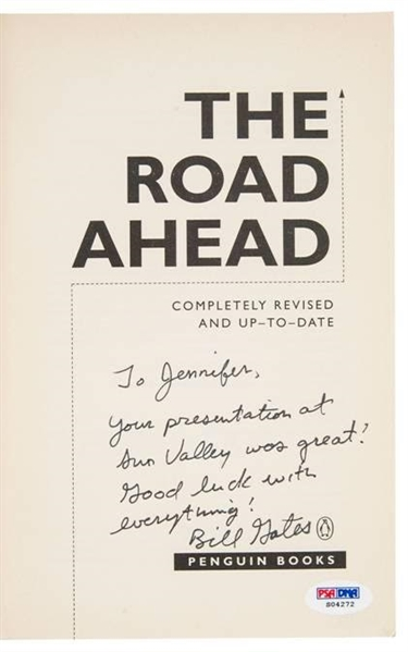 Bill Gates Signed Book with Great Inscription