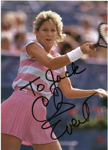 Chris Evert Signed & Inscribed Magazine Picture