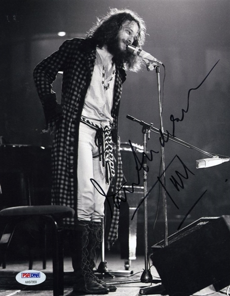 "Ian Anderson Signed & Inscribed ""Tull"" Photograph"