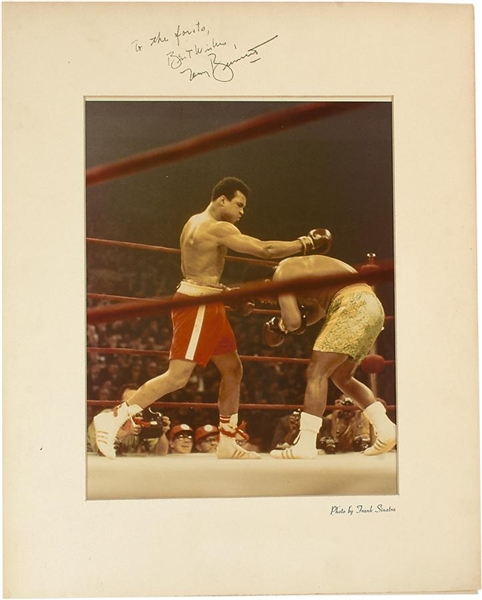 Muhammad Ali & Joe Frazier LIFE Photo By Frank Sinatra & Inscribed by Tony Bennett