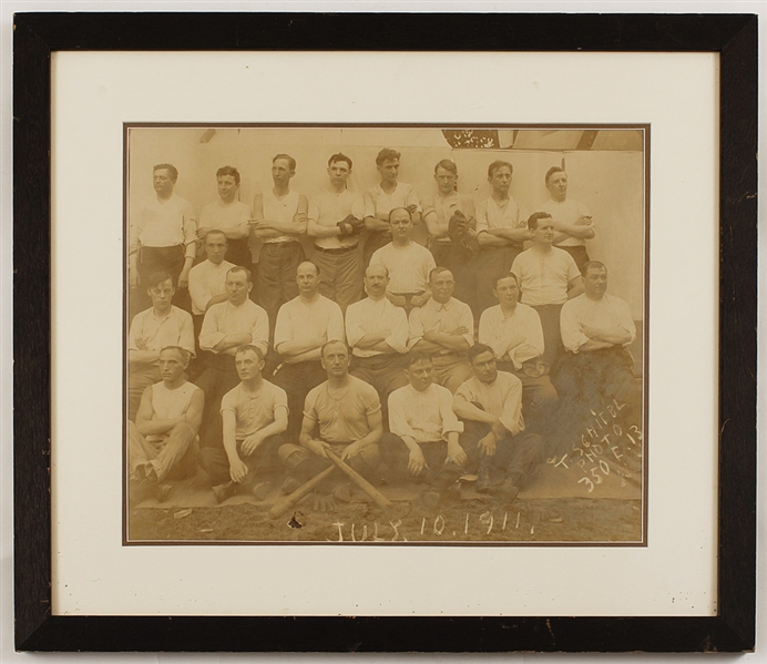 Original 1911 Photo of the Connecticut Hospital for the Insane Baseball Club (16 X 13)