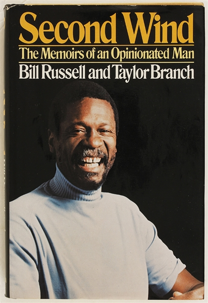 Bill Russell Signed & Inscribed Memoirs Book Second Wind