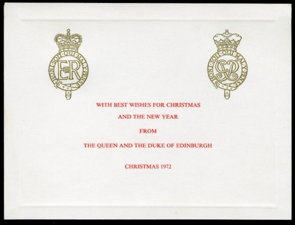 Christmas Card & Royal Program From The Queen and Duke of Edinburgh