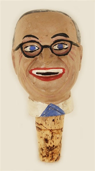 Harry Truman World War II Folk Art Wine Stopper