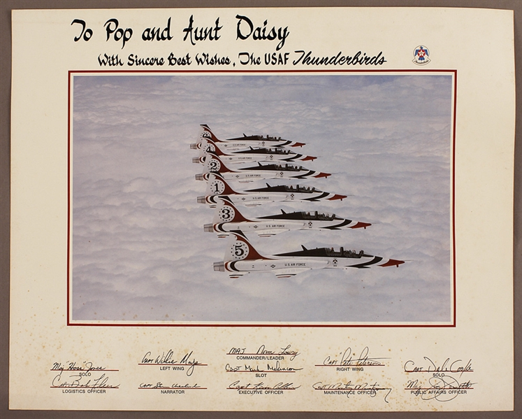 Original USAF Thunderbirds Presentation Poster (Diamond Crash) 20 x 16