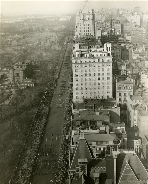 Original NYC St. Patrick's Day Parade Aerial Photograph c.1927