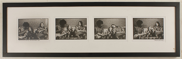 Jimi Hendrix & Mama Cass Hollywood Bowl 1967 Photograph Signed by Photographer