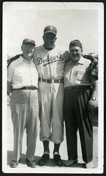 Don Newcombe Original Brooklyn Dodgers Snapshot Photograph