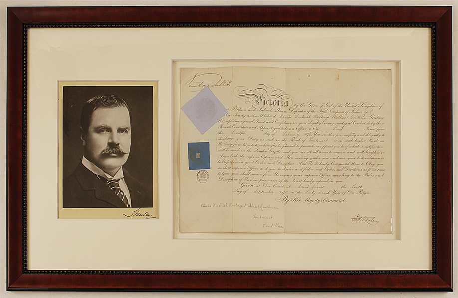 Lord Stanley Stanley Cup Namesake & Queen Victoria 1878 Signed Document