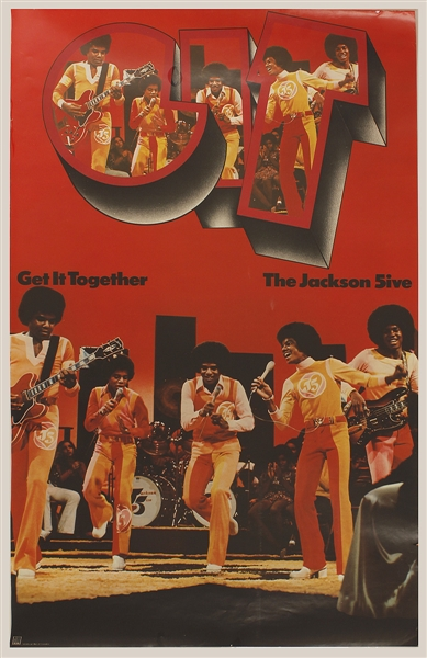 "1973 Jackson 5 Promotional Poster For Album ""G.I.T."" (Get It Together)"