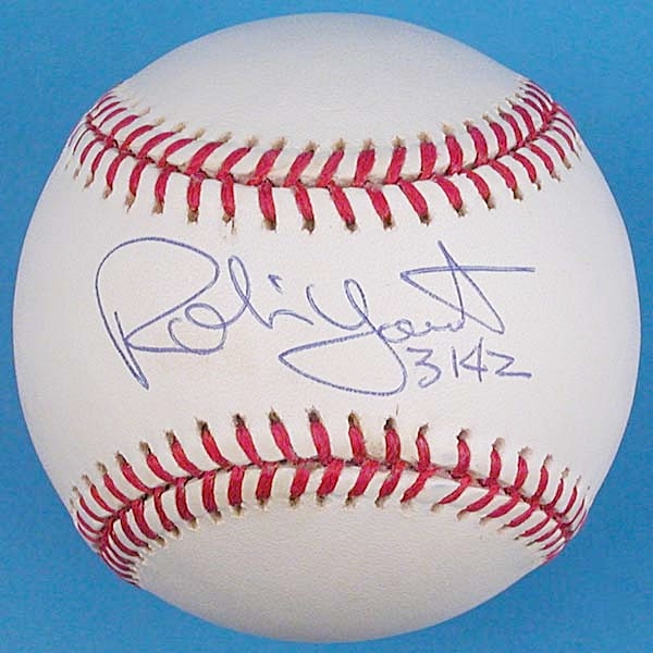 Robin Yount Signed 3142 Official American League Baseball
