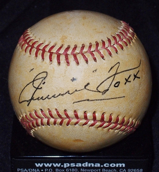 Exceptional Jimmie Foxx Single-Signed Yogi Berra All Star Baseball (PSA/DNA NM 7)