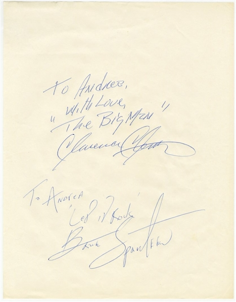 Bruce Springsteen And Clarence Clemons Vintage Signature Page