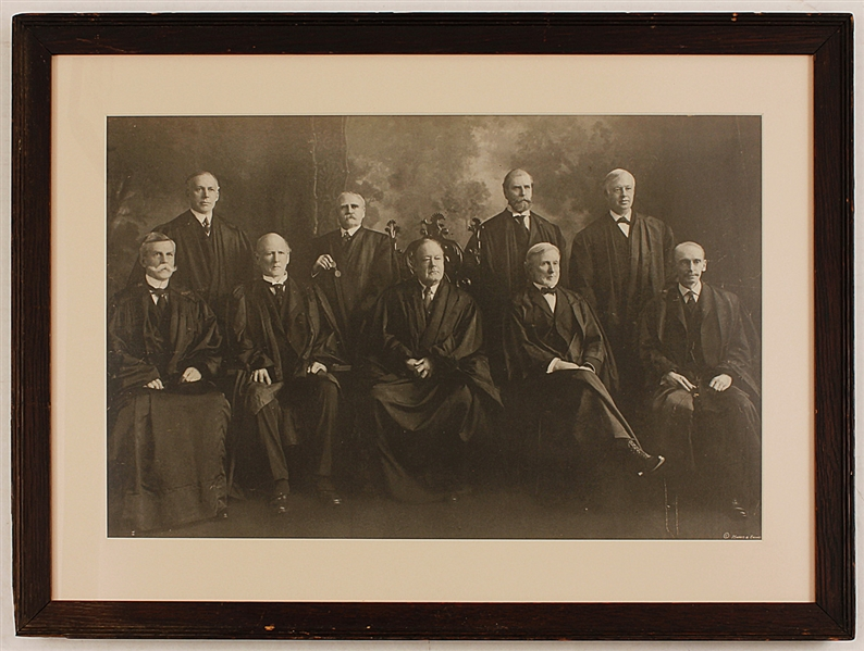 "1911 U.S. Supreme Court ""The White Court"" Original Photographic Print"