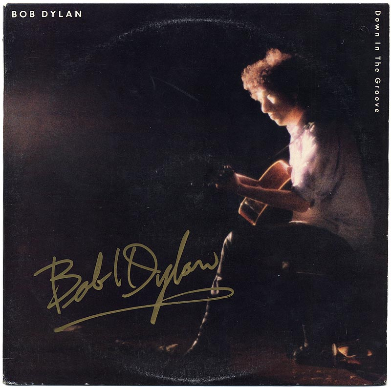 Bob Dylan Signed Down in the Groove Album