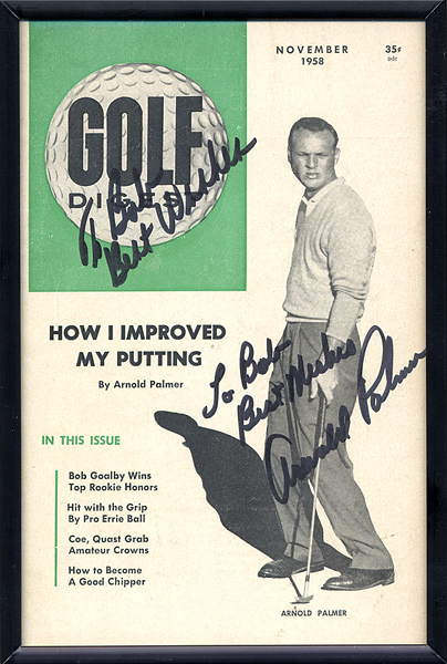 Arnold Palmer Signed & Inscribed Golf Digest Magazine