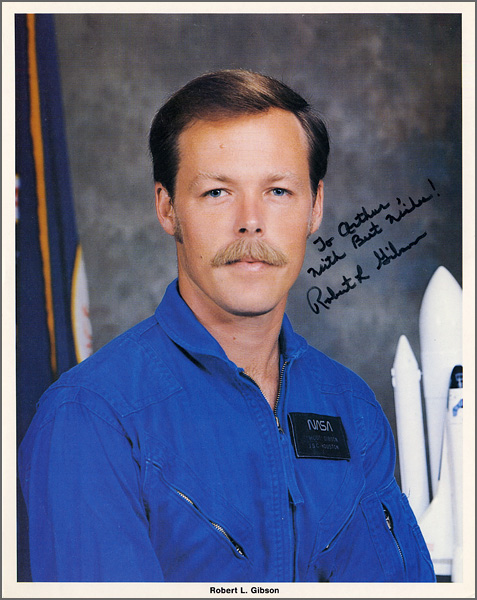 Astronaut Robert L. Gibson Signed & Inscribed Official NASA Photograph