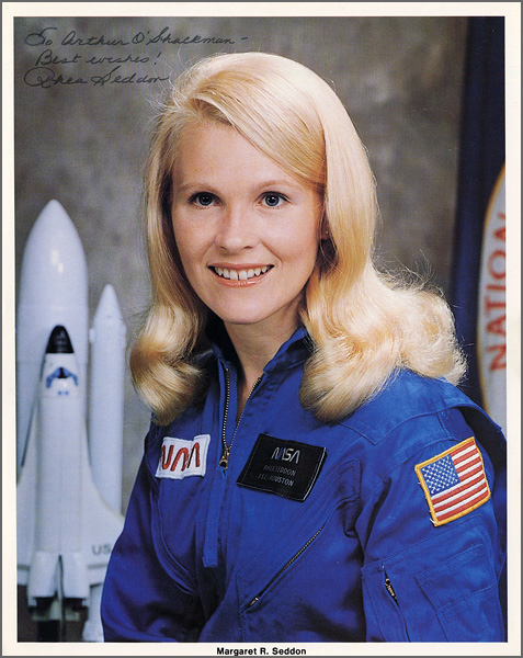 Astronaut Margaret Rhea Seddon Signed & Inscribed Offiical NASA Photograph
