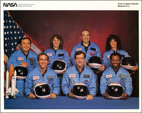 Challenger Crew Official NASA Photograph and Biographies