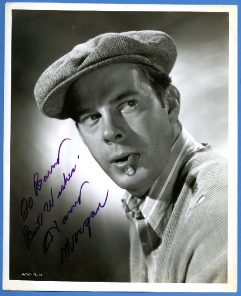 Harry Morgan Signed Photograph