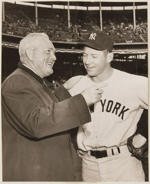 Mickey Mantle & Rogers Hornsby Original 1957 World Series Photograph
