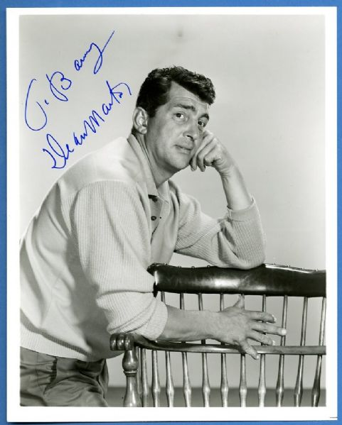 Dean Martin Signed and Inscribed Photograph