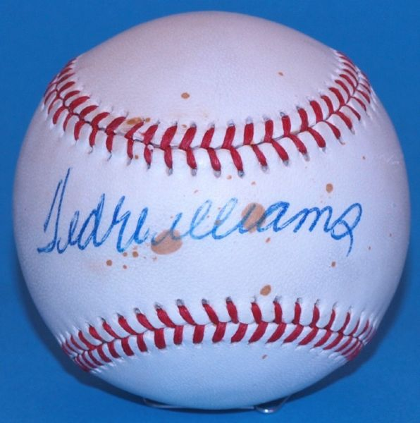 Ted Williams Signed Official American League Baseball
