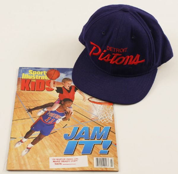 Isiah Thomas Signed and Inscribed Detroit Pistons Cap
