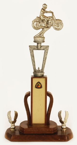 Vintage American Motocyclist Association Motorcycle Racing Trophy
