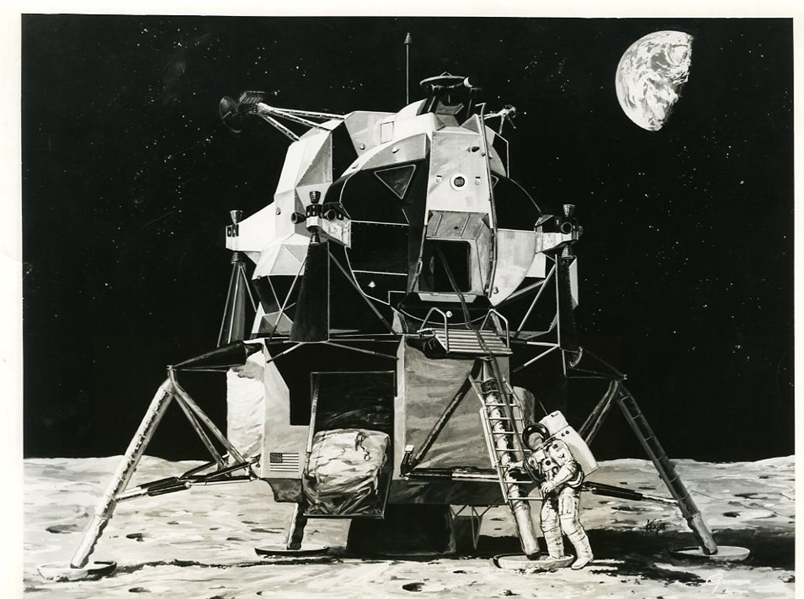Apollo 11 Lunar Module Design Drawing Original Photograph