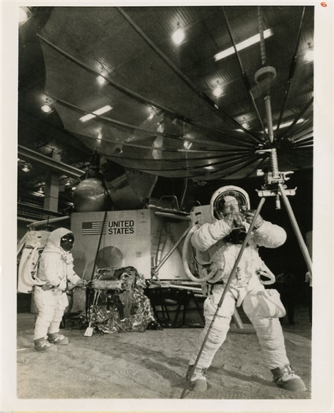 Apollo 11 Moon Mission Original Wire Photograph (Neil Armstrong, Buzz Aldrin)