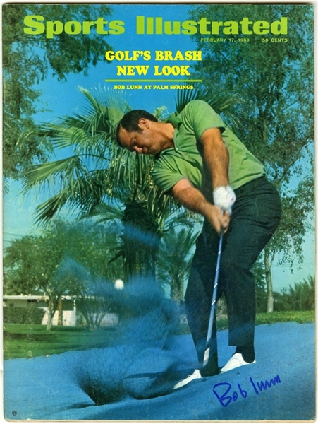 Bob Lunn PGA Champion Signed 1969 Sports Illustrated Magazine